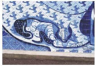 Painel de Portinari em azulejos, Igreja da Pampulha, BH