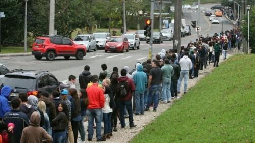 O povo na fila